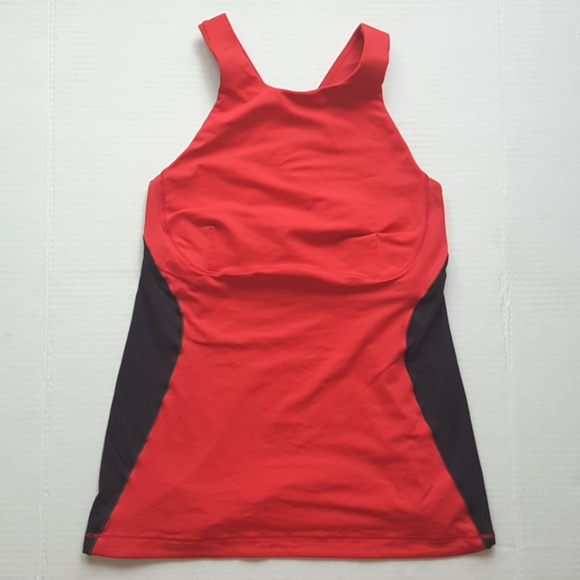 LULULEMON Black & Red Sports Bra Tank Top 6